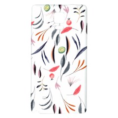 Watercolor Tablecloth Fabric Design Samsung Note 4 Hardshell Back Case