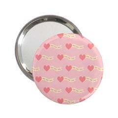 Heart Love Pattern 2 25  Handbag Mirrors