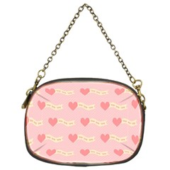 Heart Love Pattern Chain Purses (two Sides)