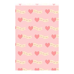 Heart Love Pattern Shower Curtain 48  X 72  (small)