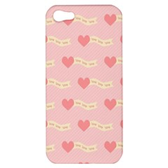 Heart Love Pattern Apple Iphone 5 Hardshell Case