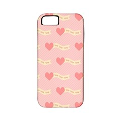 Heart Love Pattern Apple Iphone 5 Classic Hardshell Case (pc+silicone)