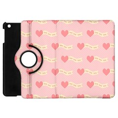 Heart Love Pattern Apple Ipad Mini Flip 360 Case