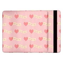 Heart Love Pattern Samsung Galaxy Tab Pro 12 2  Flip Case