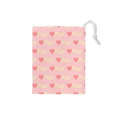 Heart Love Pattern Drawstring Pouches (small)