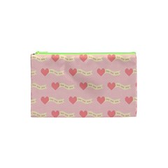 Heart Love Pattern Cosmetic Bag (xs)