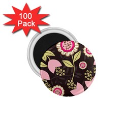 Flowers Wallpaper Floral Decoration 1 75  Magnets (100 Pack)