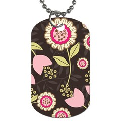 Flowers Wallpaper Floral Decoration Dog Tag (two Sides) by Nexatart