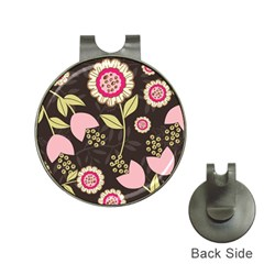 Flowers Wallpaper Floral Decoration Hat Clips With Golf Markers by Nexatart