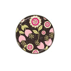 Flowers Wallpaper Floral Decoration Hat Clip Ball Marker by Nexatart
