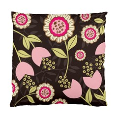 Flowers Wallpaper Floral Decoration Standard Cushion Case (one Side) by Nexatart