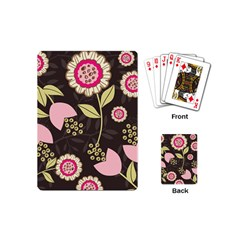 Flowers Wallpaper Floral Decoration Playing Cards (mini)  by Nexatart