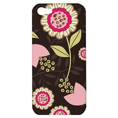 Flowers Wallpaper Floral Decoration Apple Iphone 5 Hardshell Case by Nexatart
