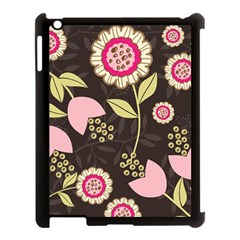 Flowers Wallpaper Floral Decoration Apple Ipad 3/4 Case (black) by Nexatart