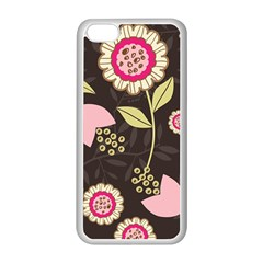 Flowers Wallpaper Floral Decoration Apple Iphone 5c Seamless Case (white) by Nexatart