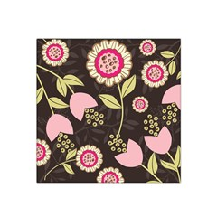 Flowers Wallpaper Floral Decoration Satin Bandana Scarf