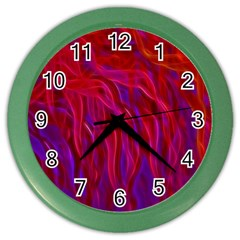 Background Texture Pattern Color Wall Clocks