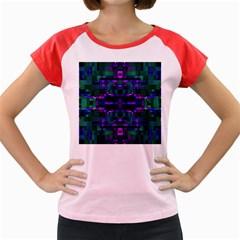 Abstract Pattern Desktop Wallpaper Women s Cap Sleeve T Shirt