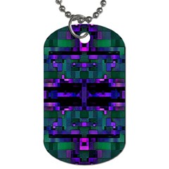 Abstract Pattern Desktop Wallpaper Dog Tag (two Sides)