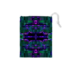Abstract Pattern Desktop Wallpaper Drawstring Pouches (small)