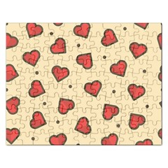 Design Love Heart Seamless Pattern Rectangular Jigsaw Puzzl