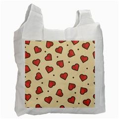 Design Love Heart Seamless Pattern Recycle Bag (one Side)