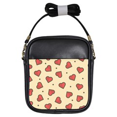 Design Love Heart Seamless Pattern Girls Sling Bags