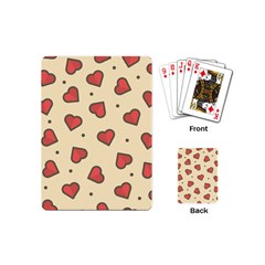 Design Love Heart Seamless Pattern Playing Cards (mini)