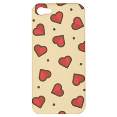 Design Love Heart Seamless Pattern Apple Iphone 5 Hardshell Case