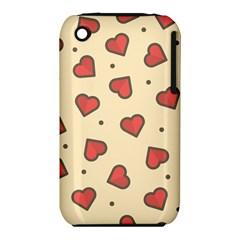 Design Love Heart Seamless Pattern Iphone 3s/3gs by Nexatart