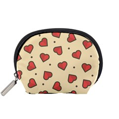 Design Love Heart Seamless Pattern Accessory Pouches (small)
