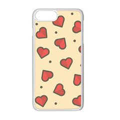 Design Love Heart Seamless Pattern Apple Iphone 8 Plus Seamless Case (white)