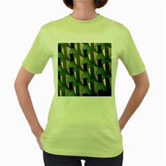 Pattern Texture Form Background Women s Green T Shirt