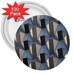 Pattern Texture Form Background 3  Buttons (100 Pack)