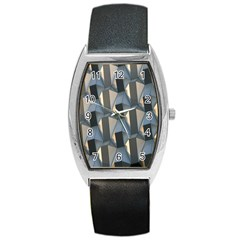 Pattern Texture Form Background Barrel Style Metal Watch