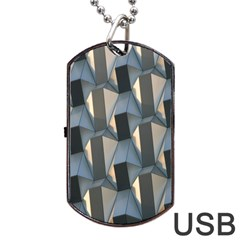 Pattern Texture Form Background Dog Tag Usb Flash (two Sides)