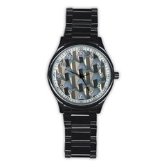 Pattern Texture Form Background Stainless Steel Round Watch by Nexatart