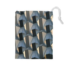 Pattern Texture Form Background Drawstring Pouches (large)