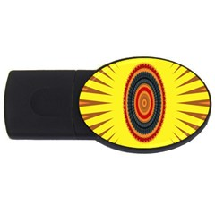 Art Decoration Wallpaper Bright Usb Flash Drive Oval (4 Gb)