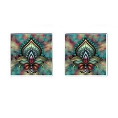 Decoration Pattern Ornate Art Cufflinks (square)