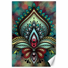 Decoration Pattern Ornate Art Canvas 24  X 36