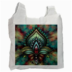 Decoration Pattern Ornate Art Recycle Bag (one Side) by Nexatart