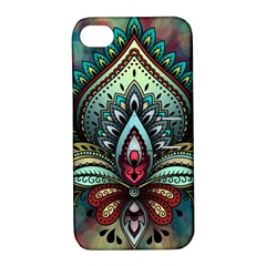 Decoration Pattern Ornate Art Apple Iphone 4/4s Hardshell Case With Stand by Nexatart
