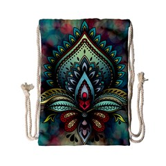 Decoration Pattern Ornate Art Drawstring Bag (small)