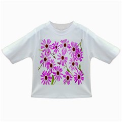 Pink Purple Daisies Design Flowers Infant/toddler T Shirts