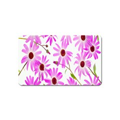 Pink Purple Daisies Design Flowers Magnet (name Card)