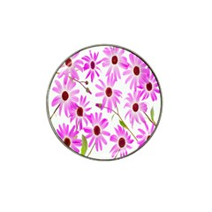 Pink Purple Daisies Design Flowers Hat Clip Ball Marker (10 Pack) by Nexatart
