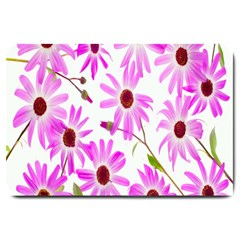 Pink Purple Daisies Design Flowers Large Doormat
