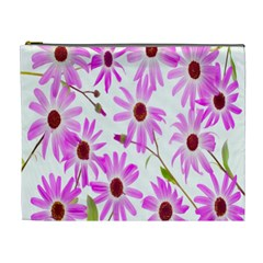 Pink Purple Daisies Design Flowers Cosmetic Bag (xl)