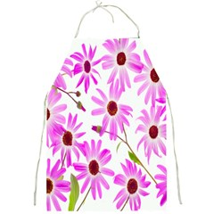 Pink Purple Daisies Design Flowers Full Print Aprons